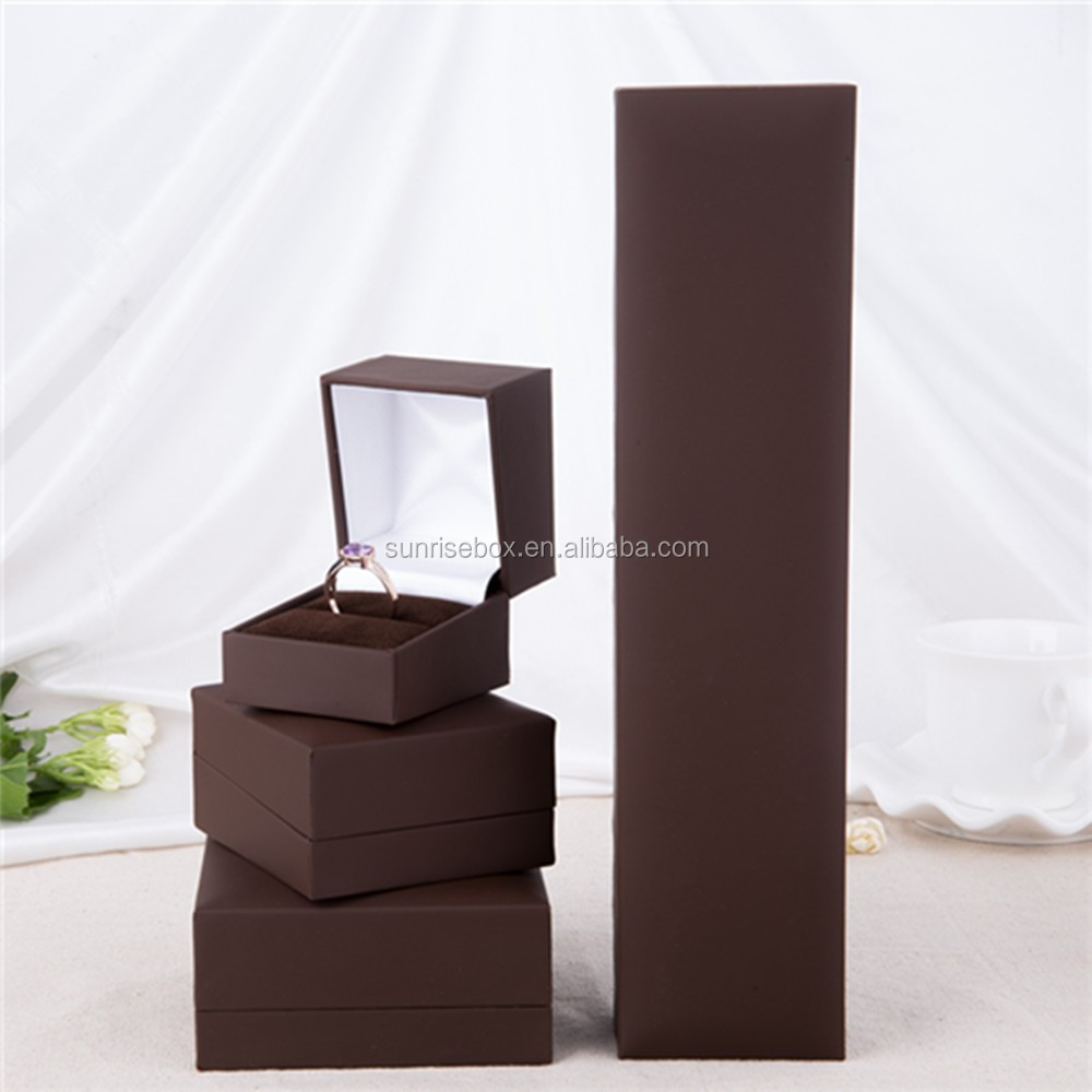 Luxury Handcraft plastic paper jewelry Pendant necklace ring box for wedding