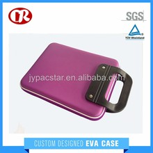 Handle portable purple black choose EVA case for iPad with zipper