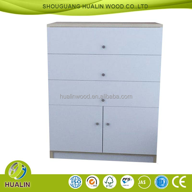 Melamine particle board cover Bedroom Cabinet Chest of Drawers Furniture