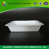 Disposable plastic OPS light weight tray