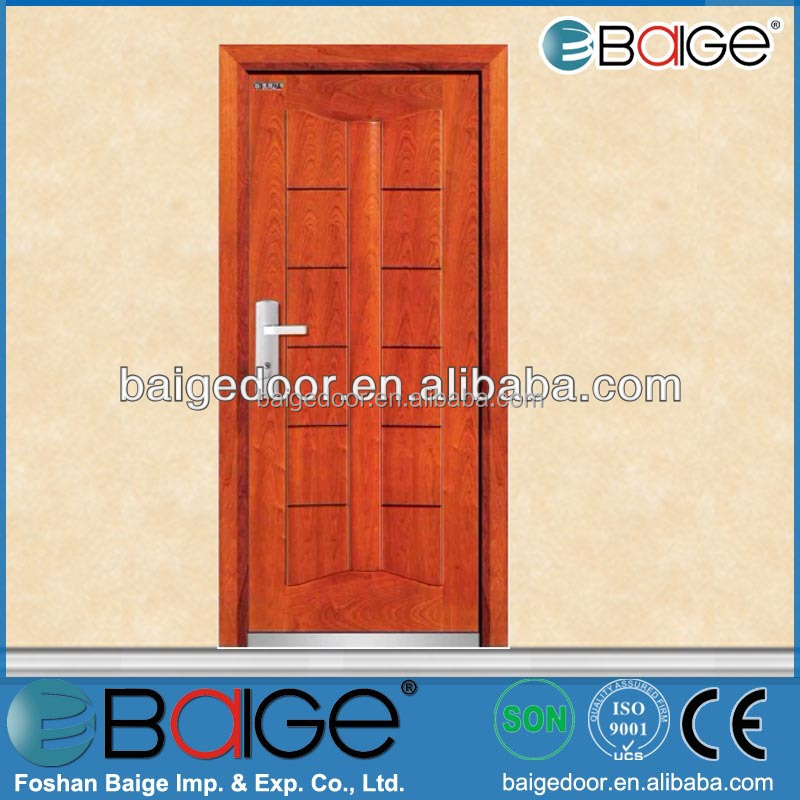 BG-A9015 Main entrance door steel wooden armor door/fiber pvc bathroom door