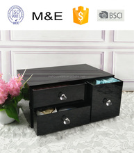 Competitive Black Acrylic Cosmetic and office Organizer 3 drawers for Cosmetics Beauty Products and Office