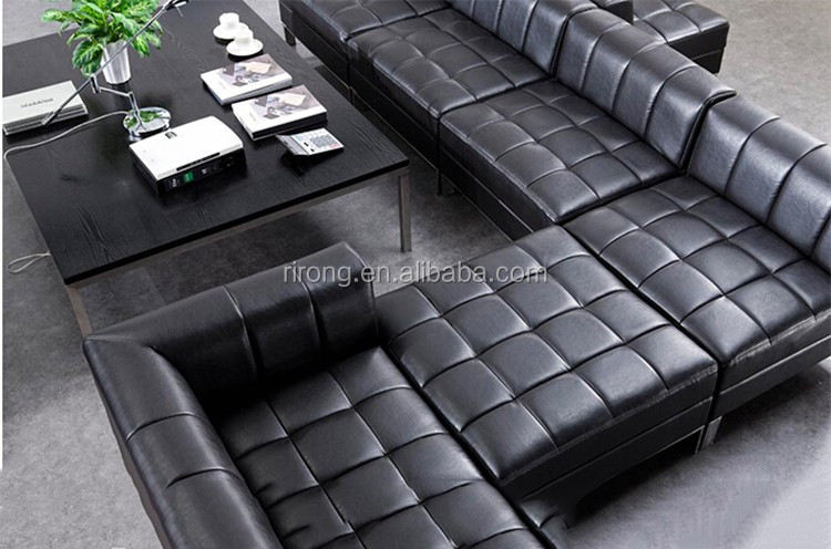 Modern luxury furniture living room low back leather for Sectional sofa low back