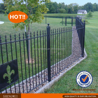 Hot dipped galvanized & Powder coated slab fence