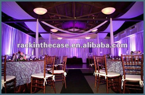 2012 RK wedding hall decoration with white background curtains