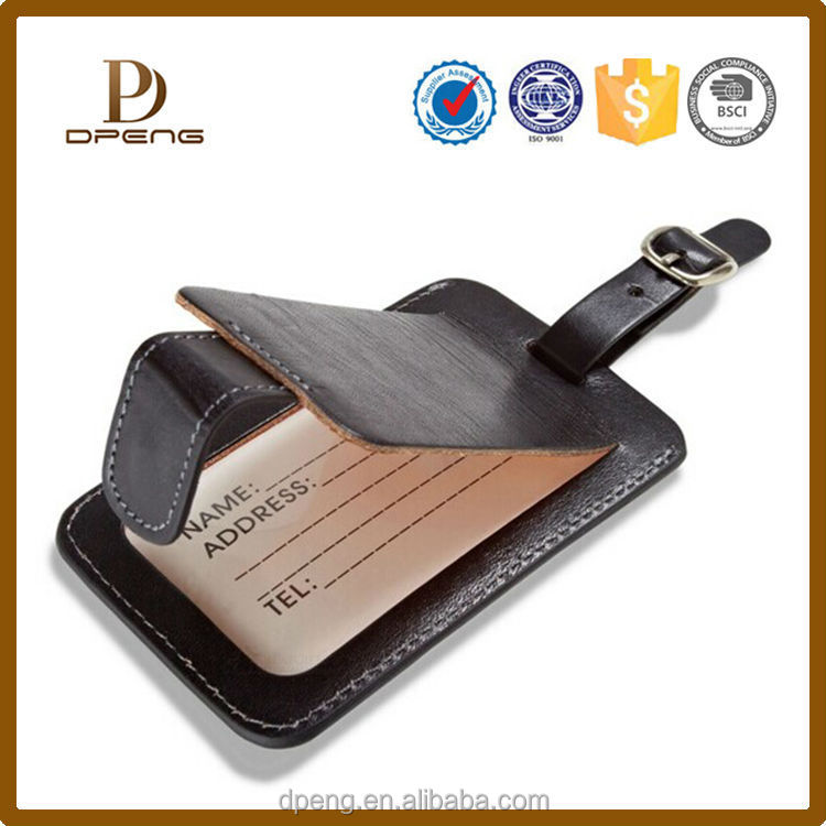 China OEM manufacturer Newest fashion hot sale leather luggage tag holder