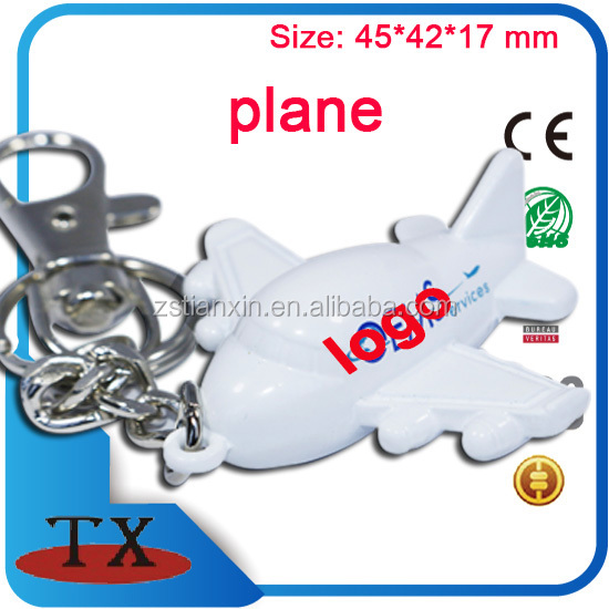 3D Airplane shape Airline company gift key chain