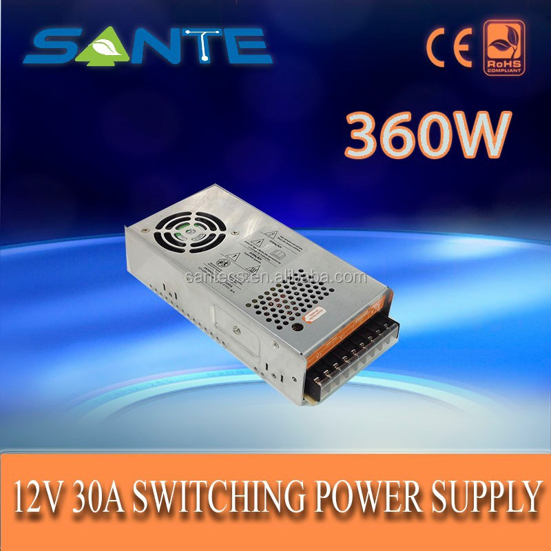 Hot sale approved 360W 12V 30A AC to DC switched mode power supply