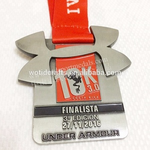New custom WTD under armour gold medal 10k running finisher marathon metal sports medals and trophies for sale custom made