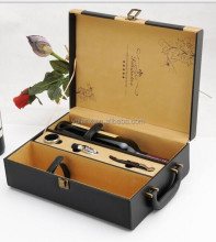 Luxury Leather Wine Box For Sale With Opener Set
