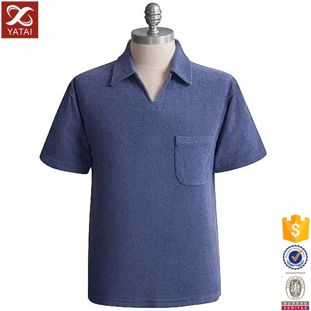 100 cotton no button polo shirt with pocket buy no for No button polo shirts