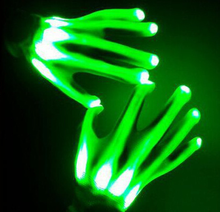 wholesale stage dance colorful shining LED hand gloves