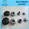 Custom Concave Effect Logo Metal Snap Button Fasteners For Shirts