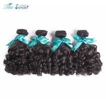 Swan Hot Selling 9A Spiral Curl Human Brazilian Hair Extensions Bundles