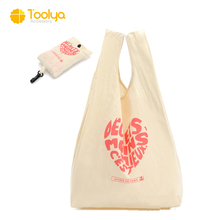 customize wholesale eco friendly cotton canvas foldable t shirt shopping tote bag