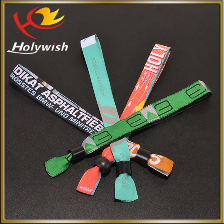 Custom cheap items to sale creative woven event wristband