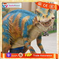 Costume realistic moving rubber dinosaur costume