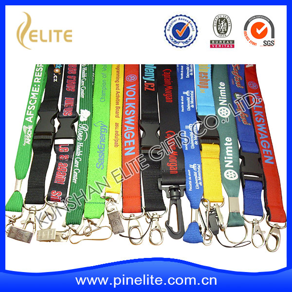 Personalized cheap custom printed polyester sublimation lanyard with logo