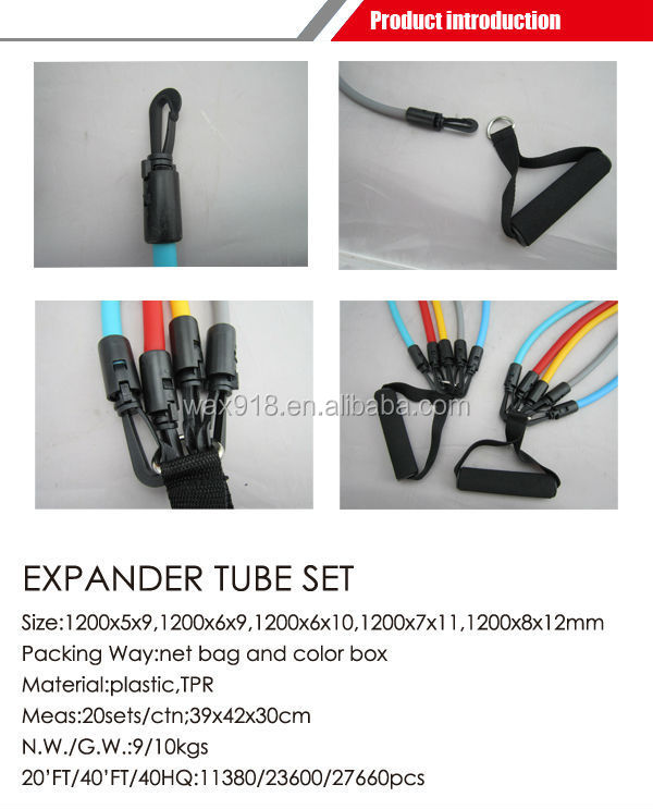 Fitness Toning Tube Set 5pcs
