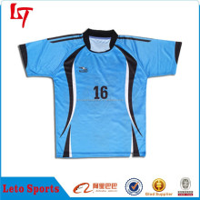 2015 New style colorful custom blank rugby jersey/European apparel rugby unisex uniforms/Breathable Rugby Football Wear