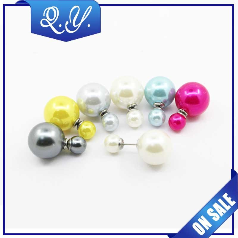 fashion style stretch ear art jewelry pear ear studs with charming color
