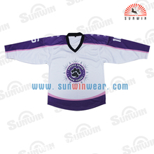 Custom made team set high quality sublimation ice hockey jerseys