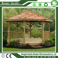 Strong wind resistant hardwood timber wooden gazebo