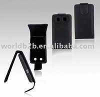 Leather case for Blackberry 8900, inside with Plastic Frame(New)