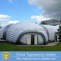 Hot welding or sewing inflatable tennis tent air dome