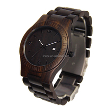 Mordern Design Classic Black Square Wood watch Case With Pointer Dial Black Wood Strap Wrist Watch