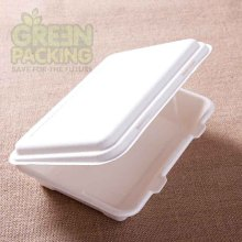 6/8/9/10 inch Sugarcane fiber white unbleached disposable take away chicken box