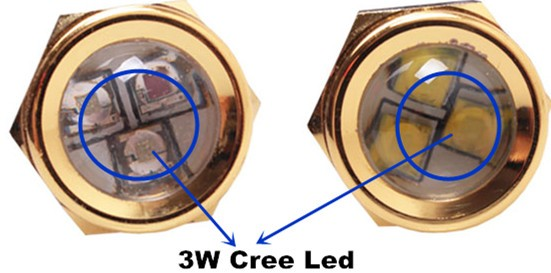 9W Copper Led Drain Plug Light IP68 Submersible Lights for Boat Lighting