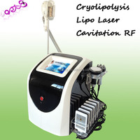 Hot sale Cryolipolysis+Lipo laser(8 laser pads) +cavitation+6 polar rf for weight loss slimming machine DO-C05