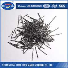Straight Middle Wavy Steel Fiber Beton Fiber For Shotcrete and Tunnel Linings