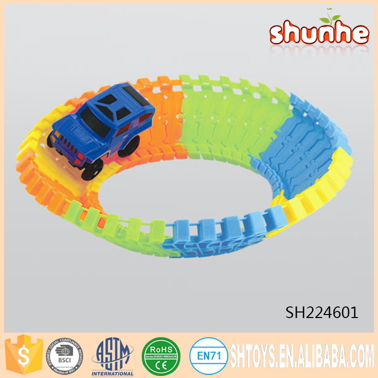 Baby magic B/O noctilucent blocks toy railway car