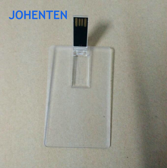 Custom Logo Transparent Card USB Flash Drive 4GB 8GB USB Flash Memory Card 16GB 8GB Business Card USB Stick Flash Pen Drive