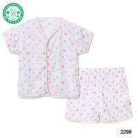 BABY wholesale short sleeve top and short pant set kids clothing with dots printing boy & girl summer sets