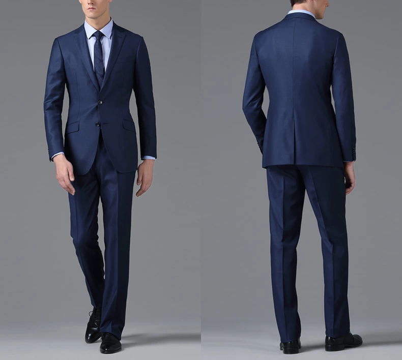 Men's Navy Slim Fit Suits in Italian Style, View Men Slim Fit ...