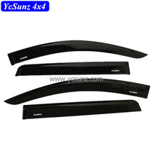 Injection Window Deflectors Acrylic Sheet Door Visor Rain Shield Black for Mitsubishi Pajero Montero 2016 Accessories