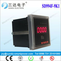 LED Digital Hz Meter Single Phase Portable Frequency Counter