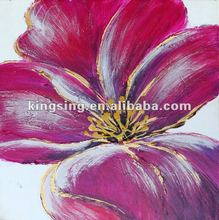 Prosperous red flower oil painting for bedroom decoration