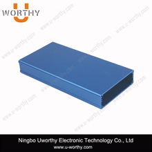 Aluminum Extruded Electronic Enclosure for Instrument in Blue Anodizing