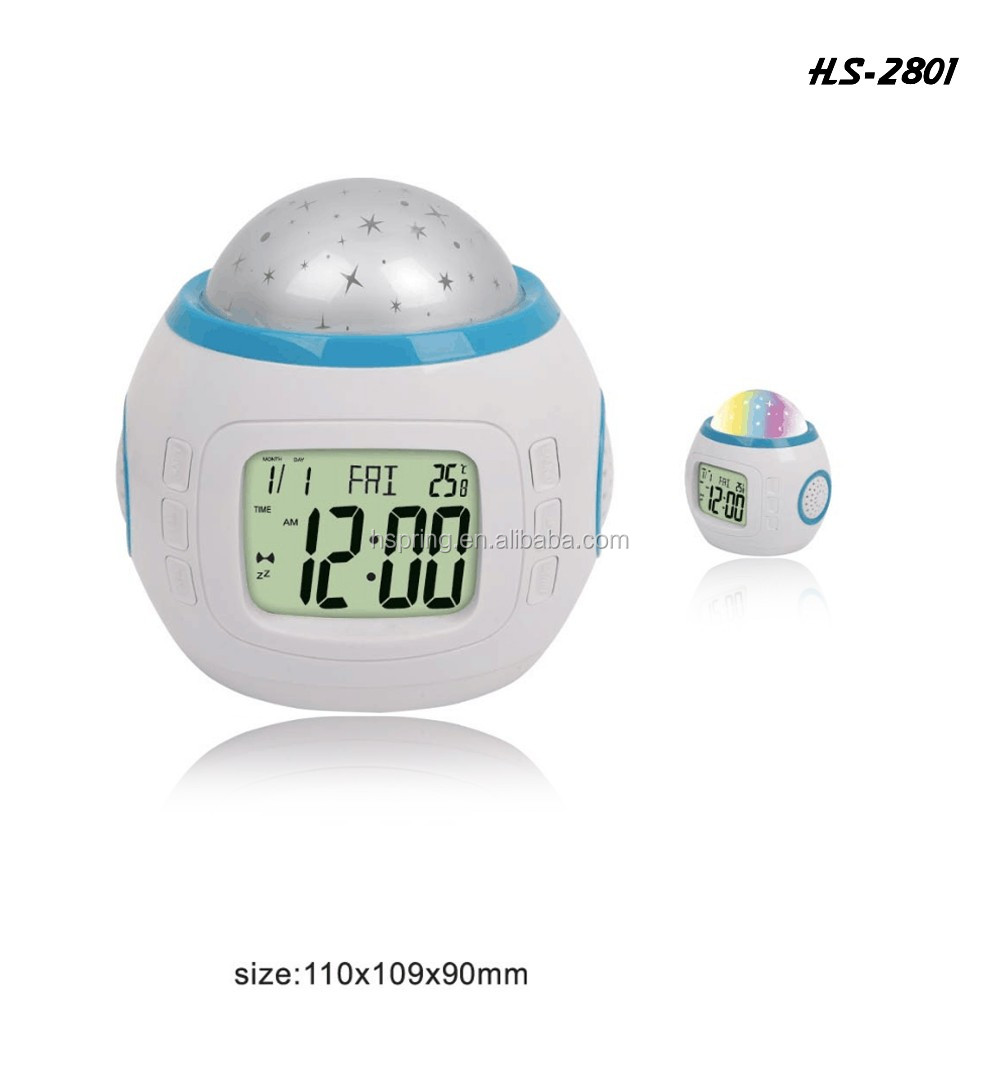 wholesale desktop projection digital temperature disply led alarm clock