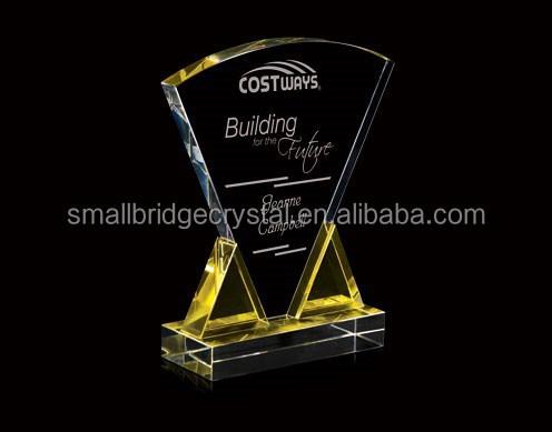 Fashion design crystal award plaques corporate award