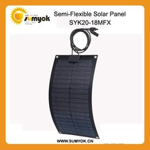 20w waterproof flexible solar panel china ,perfect to use on yachat ,car,boat,snow mobile,golf-cart..etc