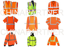 EN20471/ANSI107/CSA high visibility reflective safety clothing