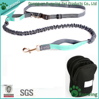 Elastic Hands Free Dog Leash With Waist Belt and bags