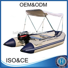 CE approved aluminum floor pontoon boat for sale HLL360