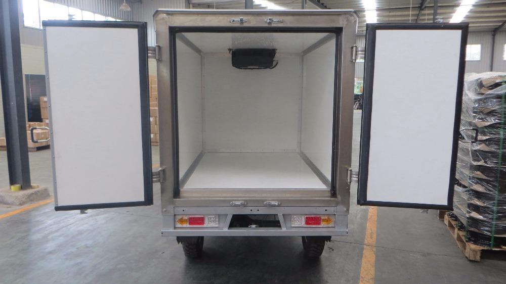outdoor commercial mobile freezer cargo tricycle
