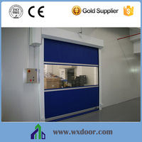 Safe Automatic PVC fabric insulated Interior high speed roller shutter door for Clean room